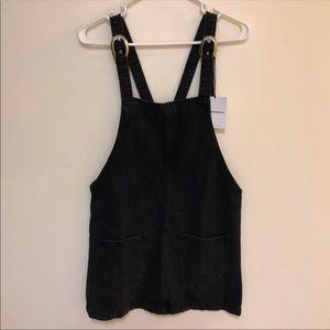 Black Over-All Denim Dress